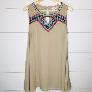 UMGEE Embroidered Tunic Tank Top Blouse MEDIUM EUC